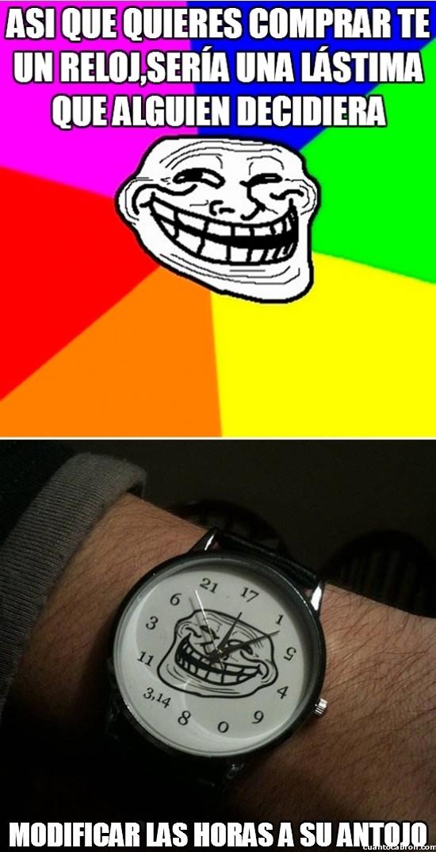 Meme_trollface - El reloj de Trollface