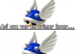 Enlace a La maldad de los caparazones azules del Mario Kart