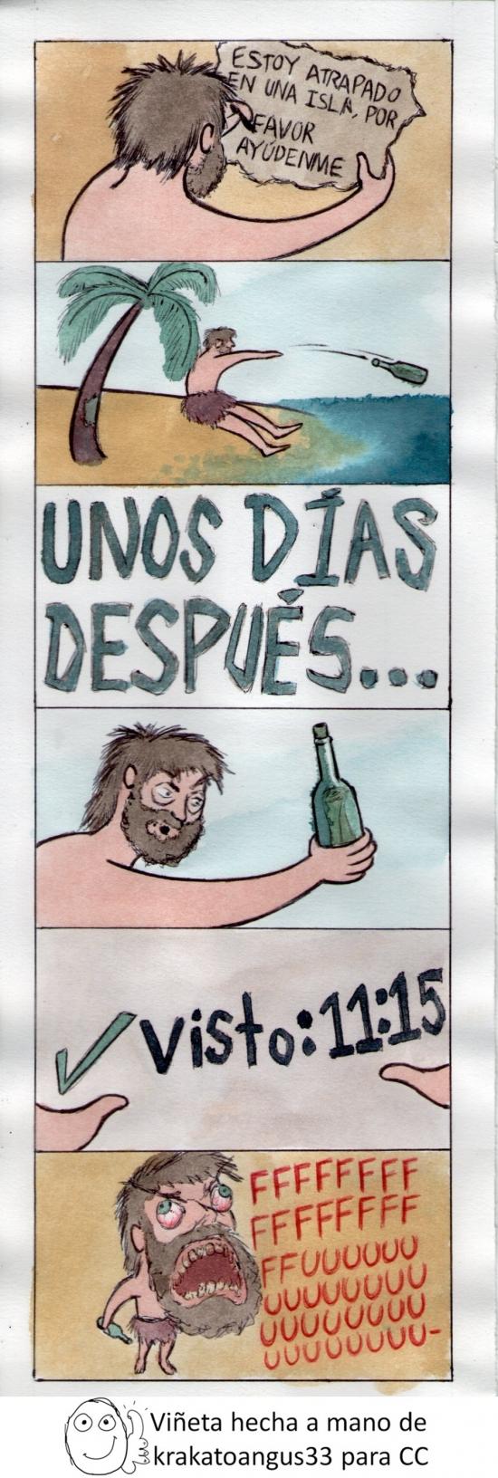 atrapado,ayuda,botella,facebook,fail,fuuu,isla,mensaje,náufrago,whatsapp