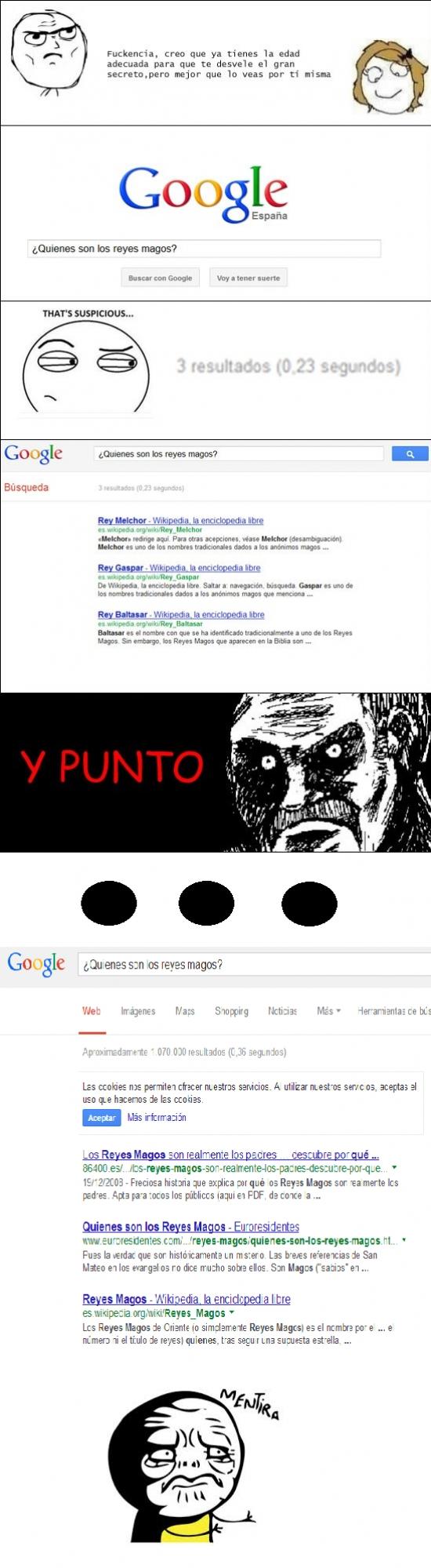 Mentira - La verdad sobre los Reyes Magos, ¿Google por qué nos haces esto?