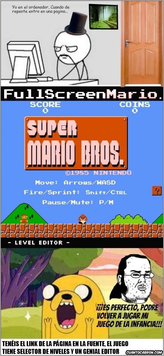 Computer Guy,Fiki,Full Screen,Jake,Juego,Link,Super Mario Bros