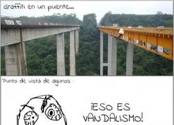 Enlace a Graffitis en puentes