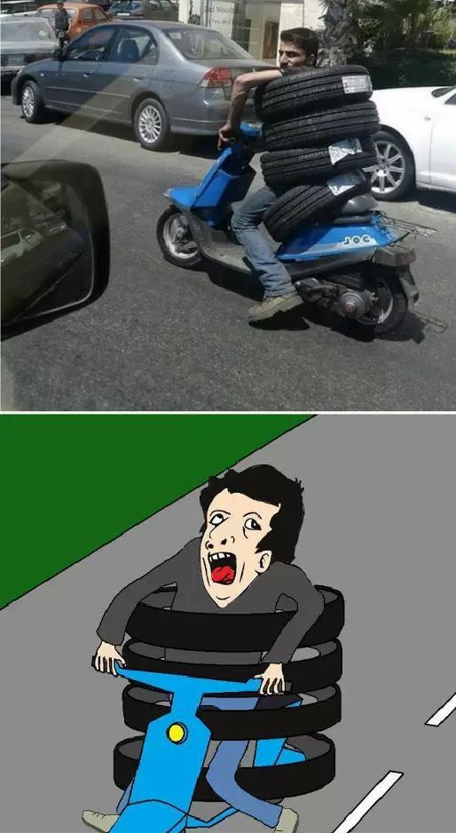 Otros - Genius transportando neumáticos