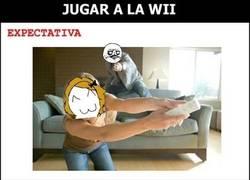 Enlace a Jugando a la Wii