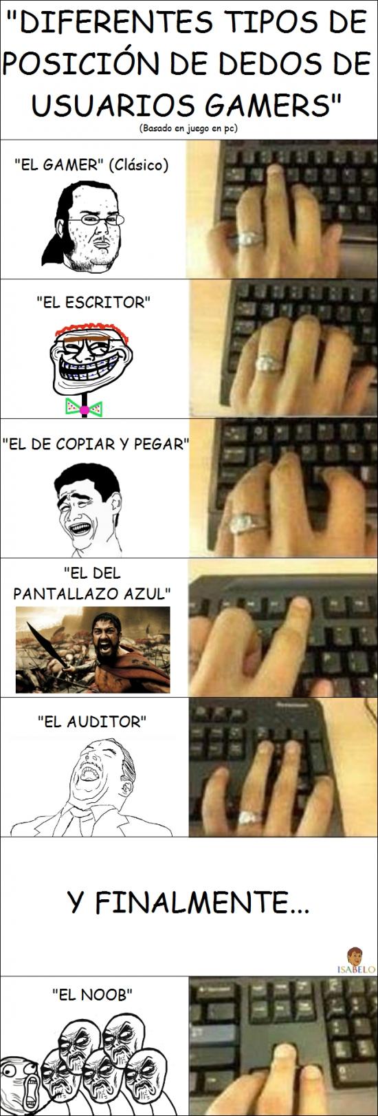Infinito_desprecio - Y tú, ¿cómo colocas tus dedos?