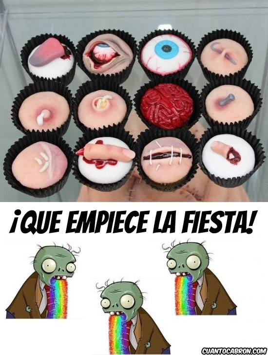 Puke_rainbows - ¡Que no falte el muffin zombie!