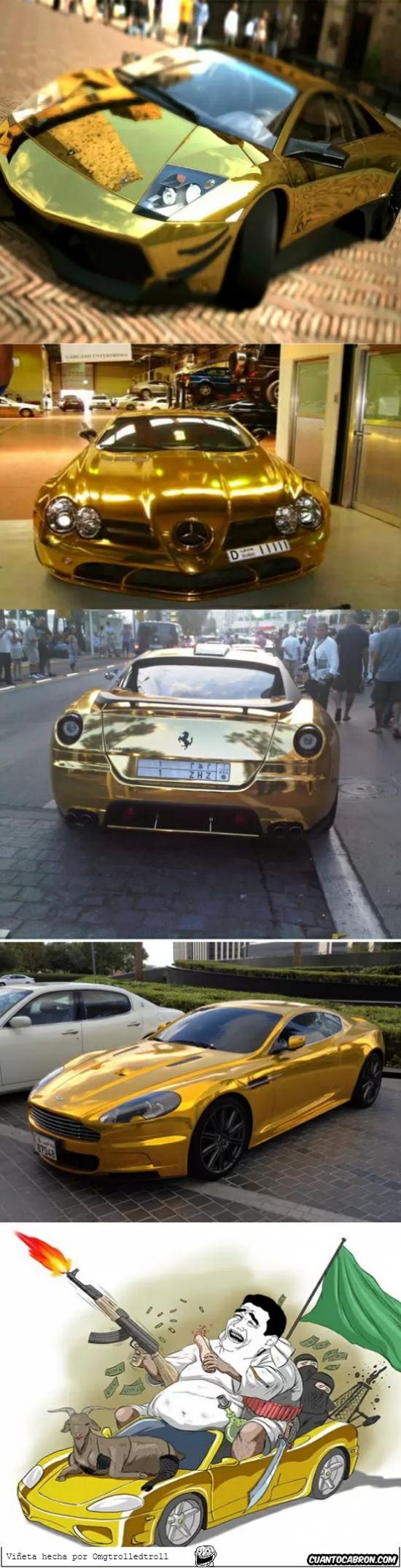 asquerosamente rico,coches de oro,dubai,jeque,petrodolares,Yao ming
