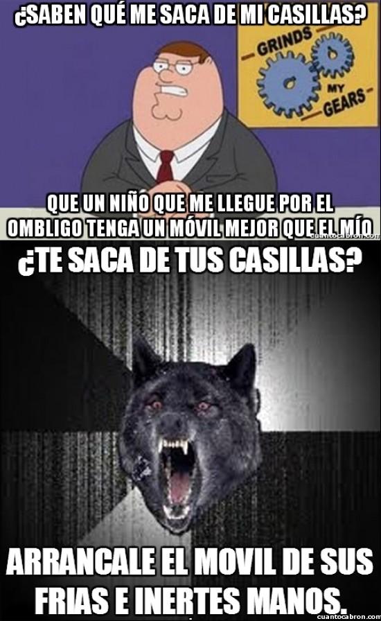 Meme_mix - El lobo demente sabe poner soluciones rápidas a tus problemas