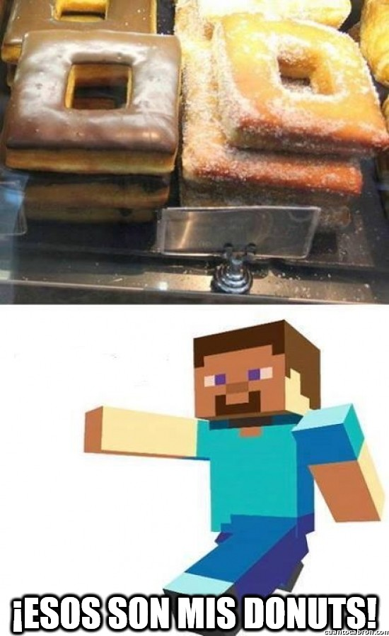 Minecraft - ¿Donuts cuadrados?