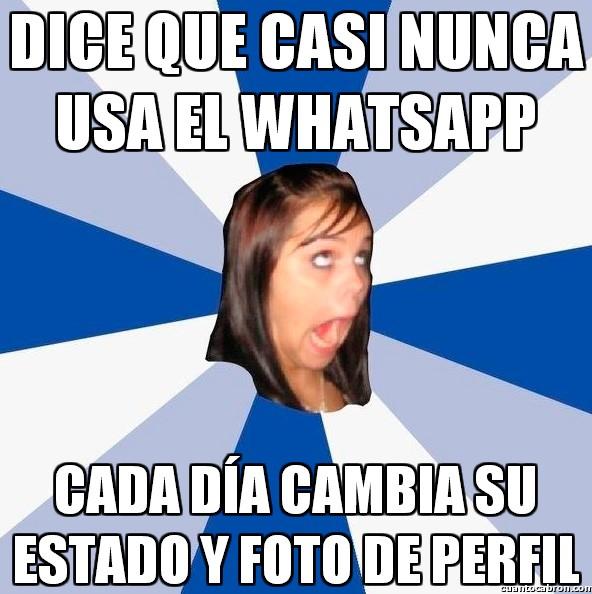 Amiga_facebook_molesta - No, si yo el WhatsApp casi ni lo abro