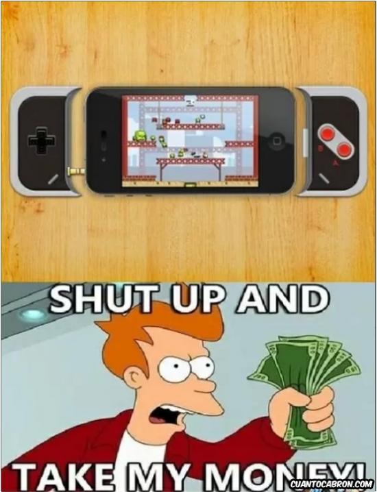 Fry - NES + iPhone = La perfección