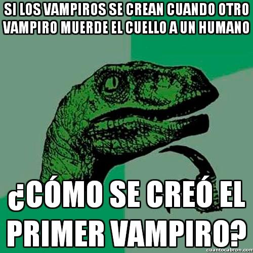 Philosoraptor - Dilema vampírico