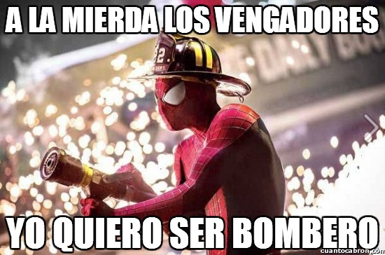 amazing,bombero,marvel,spiderman,vengadores