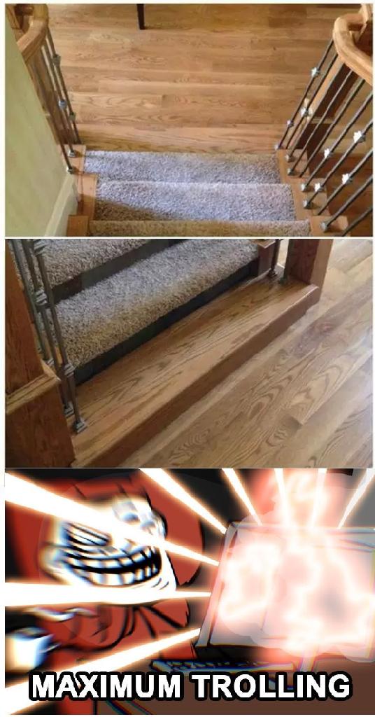 Trollface - Trolleando con escaleras