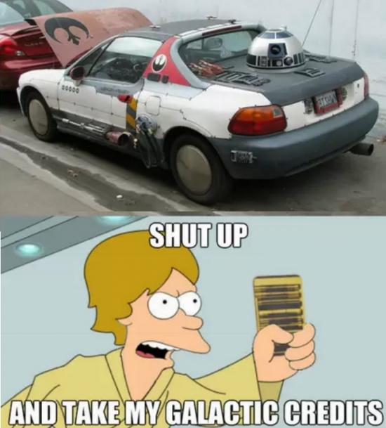 Fry - El coche perfecto para un fan de Star Wars