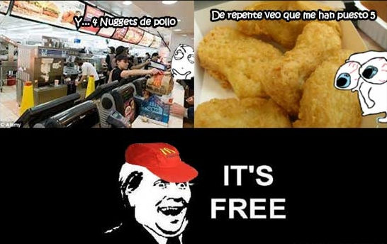 free,mcdonald's,nuggets,suerte
