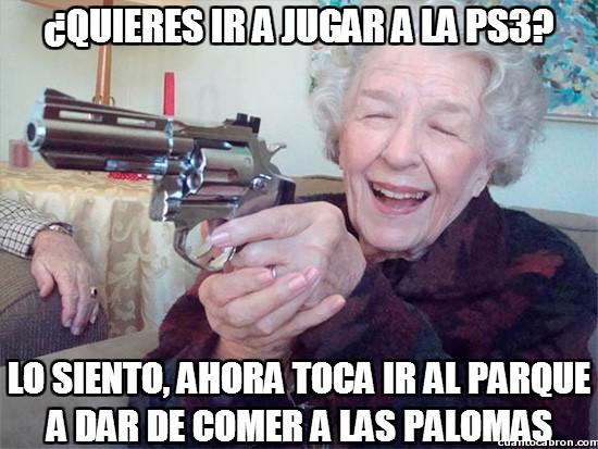 Abuela_amenazas - La abuela sabe como conseguir compañía