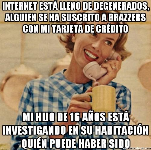 Madre_inocente - Cuánta degeneración en Internet...