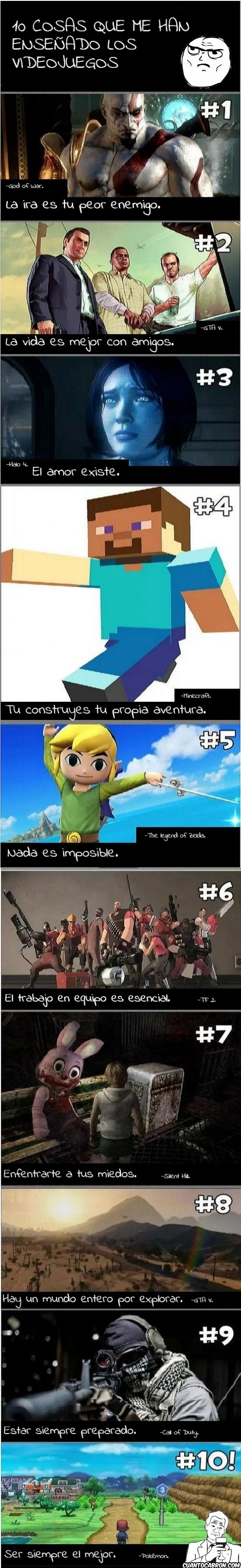 COD,God of war,GTA V,halo 4,juegos,la vida misma,minecraft,pokémon,silent hill,TF 2,the legend of zelda,true story