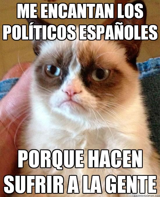 Grumpy_cat - El fan número 1 de los políticos españoles