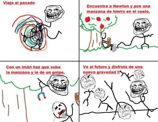 Trollface - Nuevas leyes de Newton