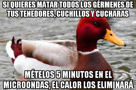 Pato_mal_consejero - El microondas es tu mejor amigo para limpiar