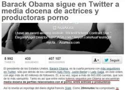Enlace a Obama siguiendo en Twitter a gente bastante curiosa