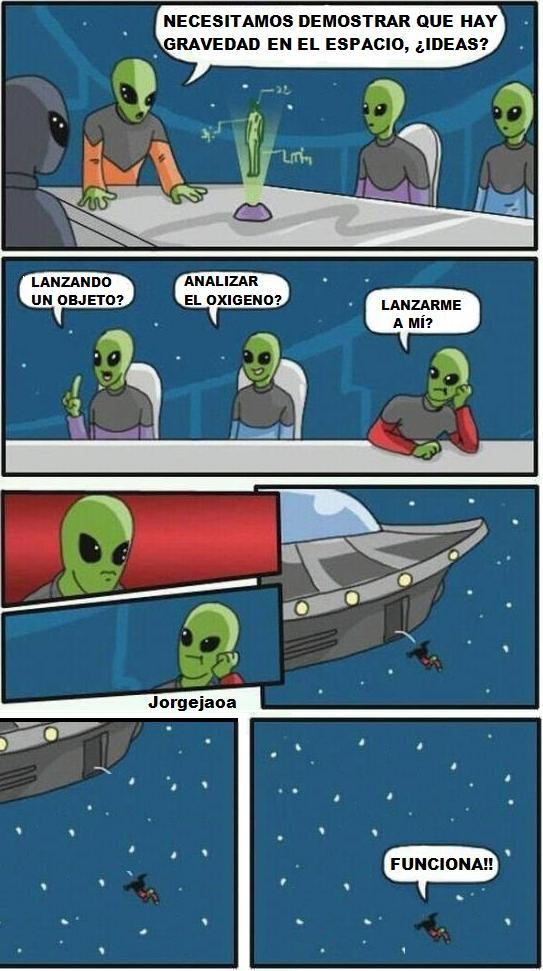 Otros - Junta de alienígenas rompiendo las teorías físicas humanas