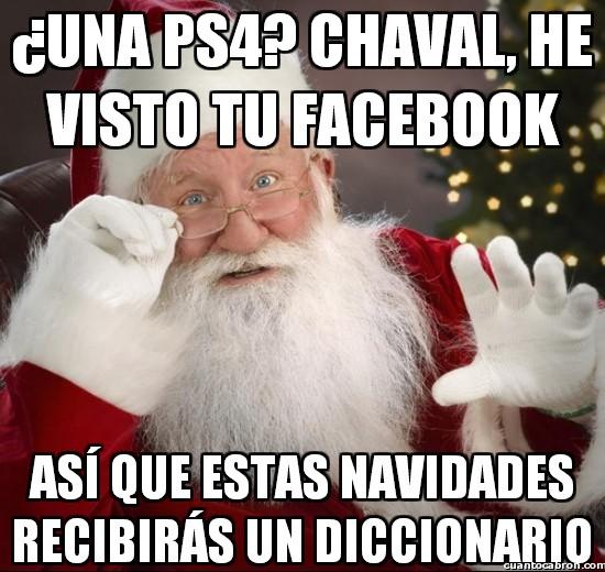 diccionario,facebook,IMAGEN SIN TEXTO EN LA FUENTE,papa noel,recibir,regalo