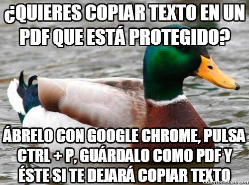 Pato_consejero - El truco para los PDF protegidos