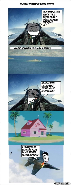 ejectarse,Jetfighter,maestro Roshi,nothing to do here,tema de la semana,temaislas,Yao Ming