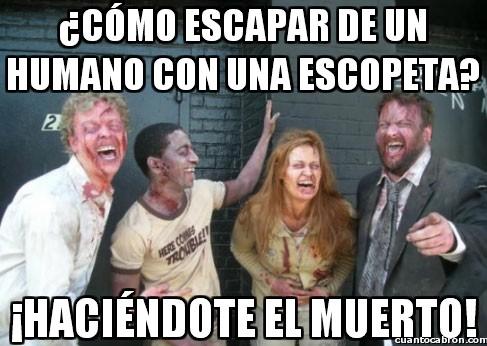 Zombie - Técnicas zombie de escape