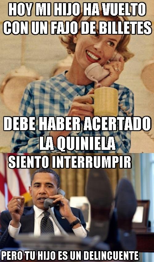 delincuente,interrumpir,madre inocente,Obama,ya está dicho