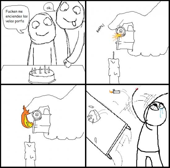 Desk_flip - [Tema de la semana] El riesgo de encender las velas del pastel