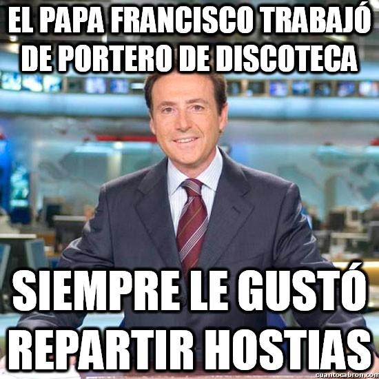 Meme_matias - El papa portero