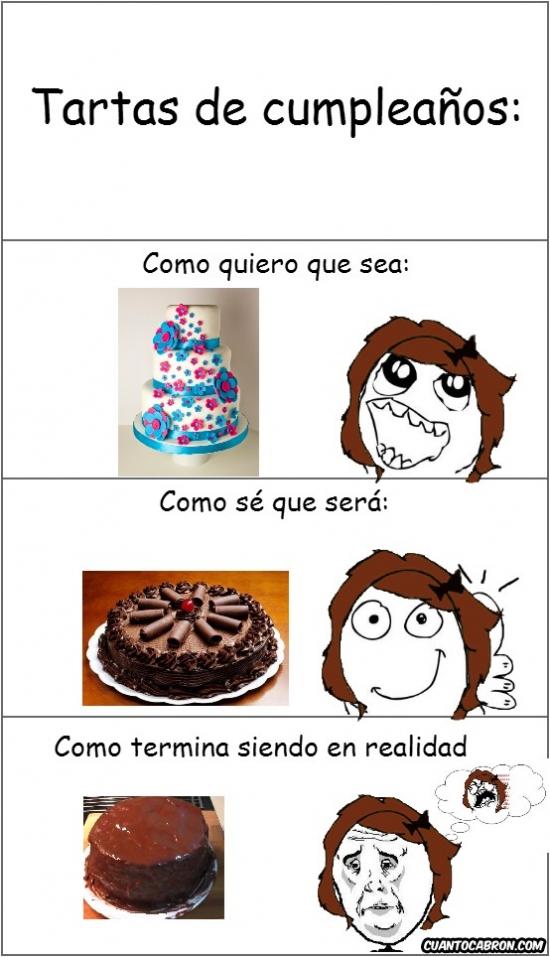 chocolate,cumpleaños,expectativas,realidad,tarta,temacumples