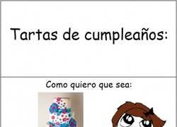Enlace a La realidad con las tartas de cumpleaños