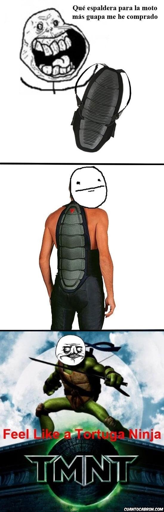 Feel_like_a_ninja - Con mi espaldera nueva para la moto