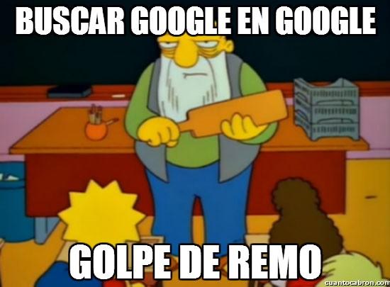 buscar,golpe de remo,google,googleception