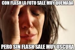 Enlace a El drama de las fotos y el flash