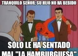 Enlace a Hamburguesas que le sientan fatal a Spiderman