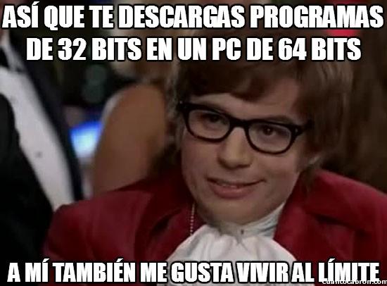 32 bits,64 bits,al limite,instalar,ordenador,Pc,programas,vivir