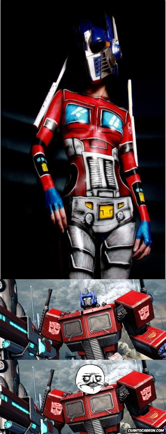 Me_gusta - A Optimus le gusta el Body Painting