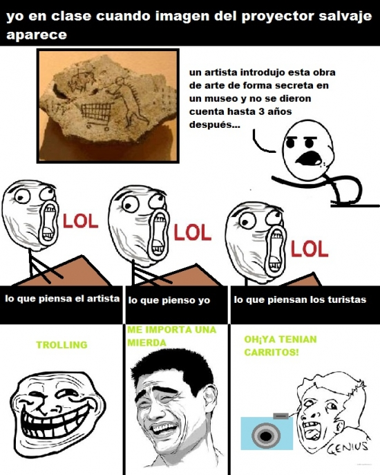 Trollface - Carrito del paleolítico