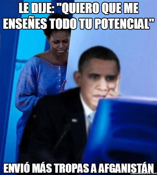 afganistán,barack obama,enseñar,michelle obama,muéstrame,obama,potencial,tropas