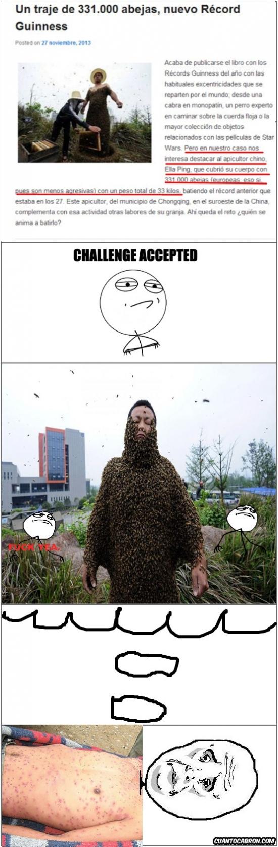 Okay - Récord de traje de abejas