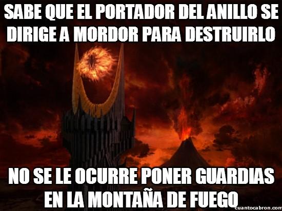 anillo unico,el señor de los anillos,ESDLA,genius sauron,montaña de fuego,orcos