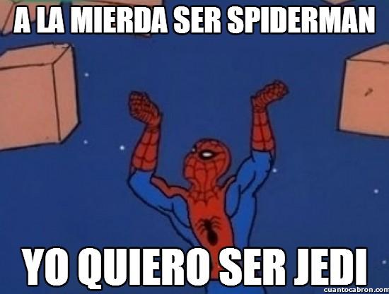 cajas,jedi,la fuerza,la guerra de las galaxias,poderes,spiderman,star wars
