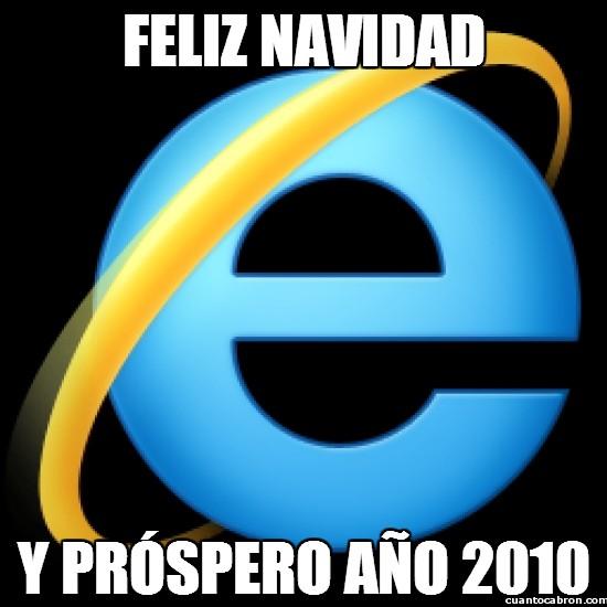 Meme_otros - ¡Internet Explorer os desea felices fiestas!