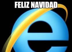 Enlace a ¡Internet Explorer os desea felices fiestas!